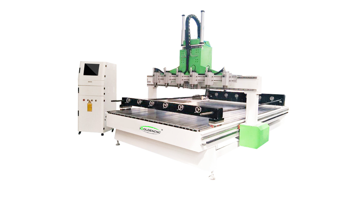 Plane/Stereo 4 axis Multi -head cnc router