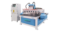 3D wood cnc router machine with 8 head