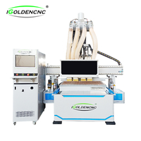 Pneumatic Four Heads Cnc Wood Cutting Machine